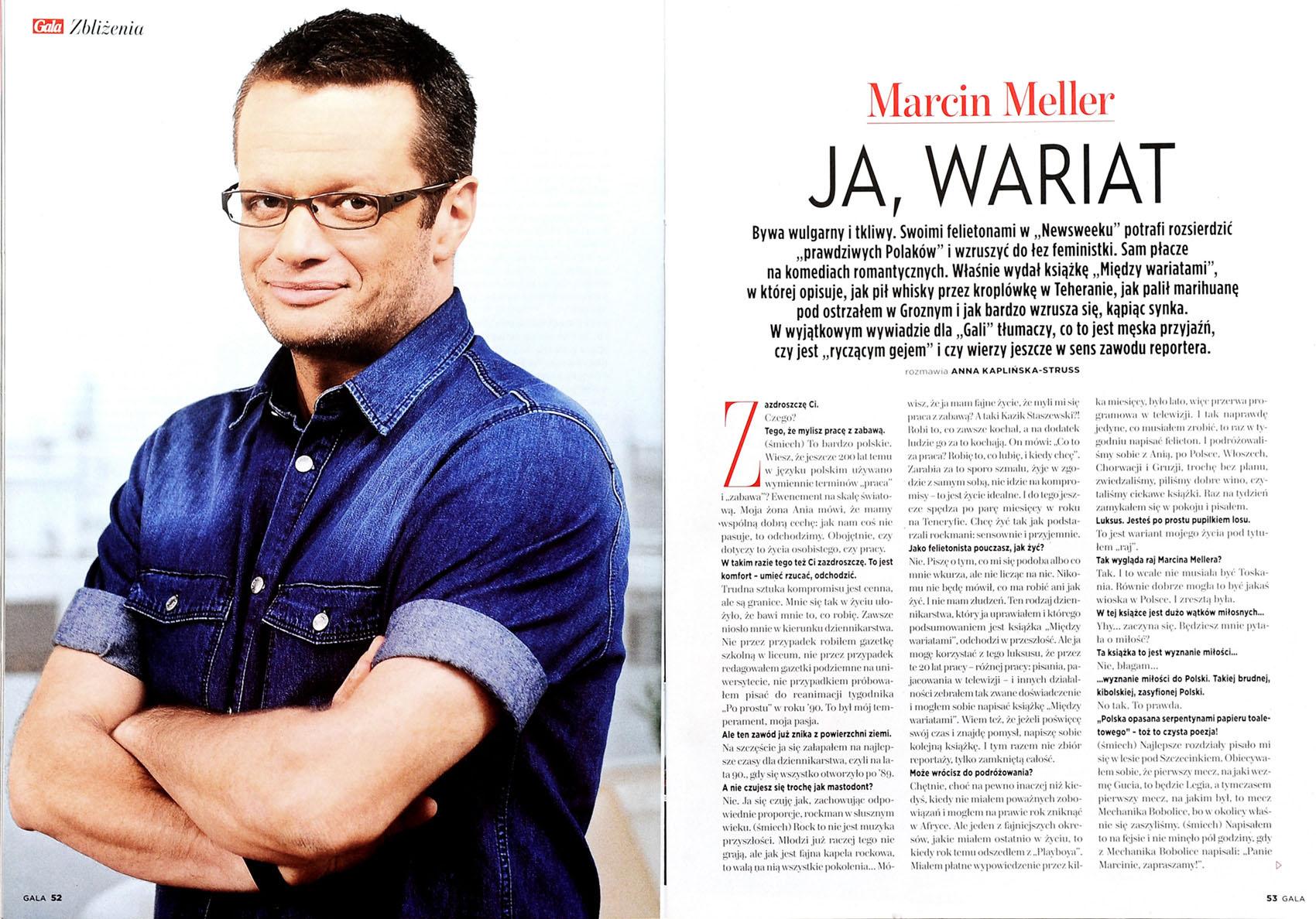 GALA nr 23/2013 r., s. 52 - Marcin Meller
