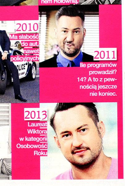 GRAZIA nr 21/2013 r., s. 42 - Marcin Prokop (2 szt.)