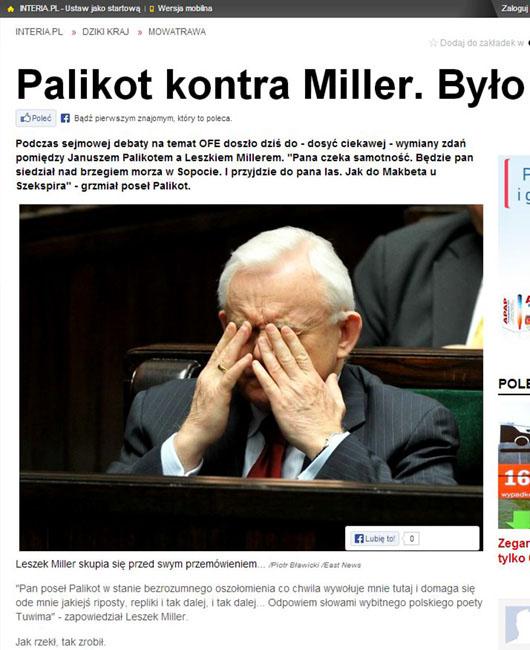 portal INTERIA.pl 06.12.2013 - Leszek Miller