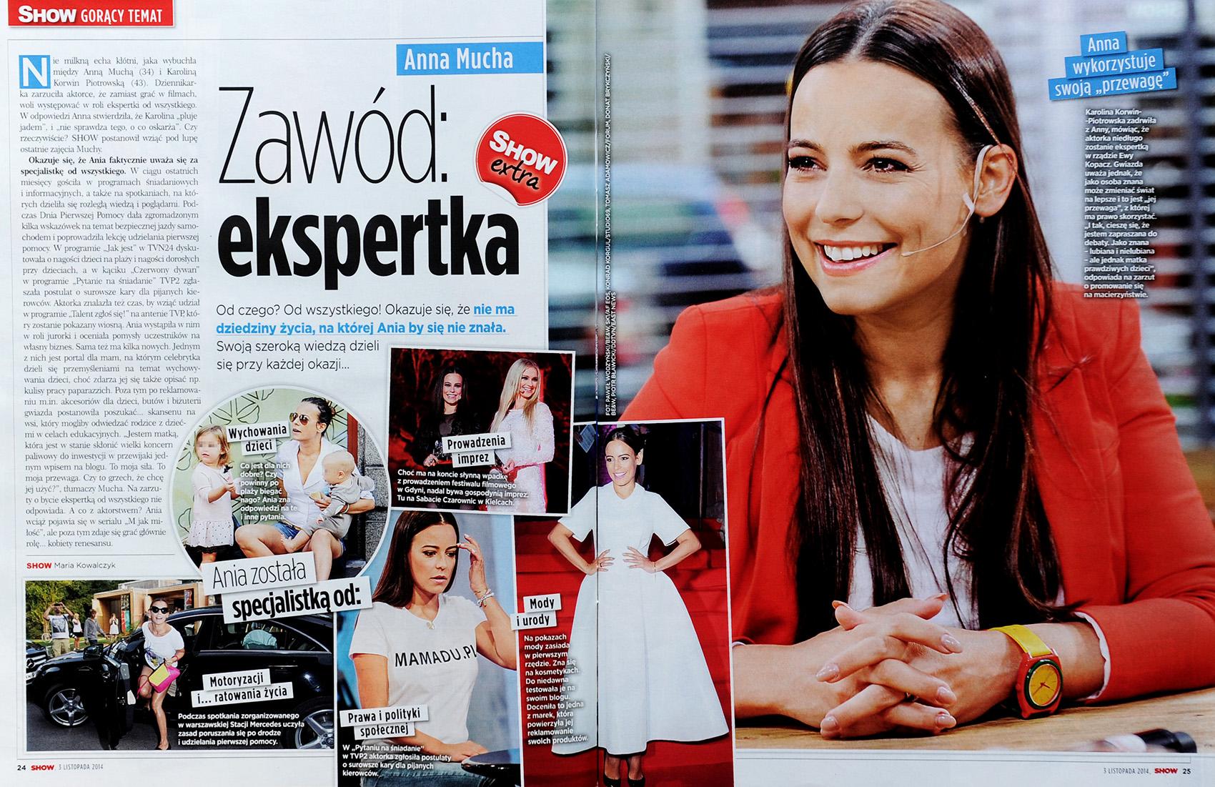 SHOW nr 22/2014 s. 24-25 - Anna Mucha (główne zdjęcie)