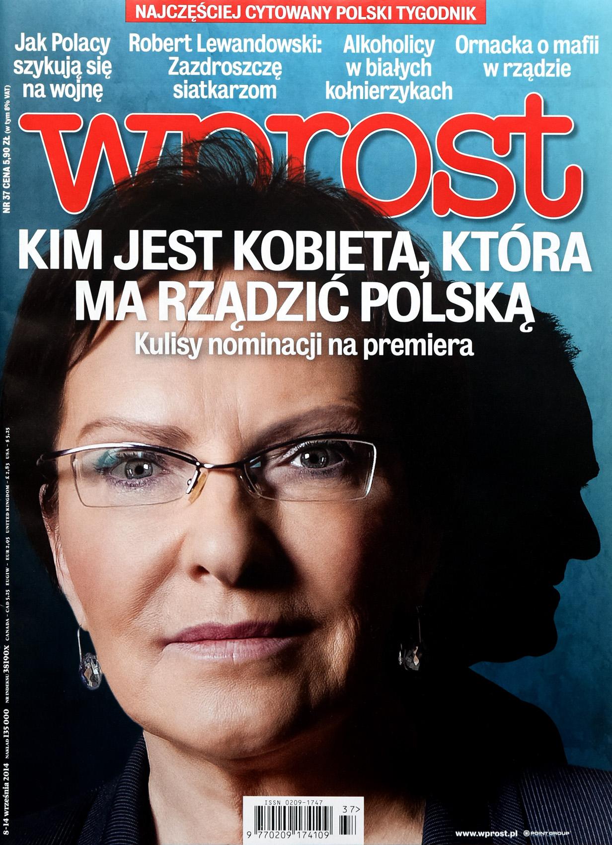 WPROST nr 37/2014 - okładka - Donald Tusk