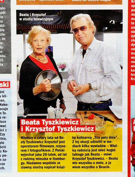 ŻYCIE NA GORĄCO nr 46/2013 r., s. 11 - Beata Tyszkiewicz z bratem Krzysztofem Tyszkiewiczem