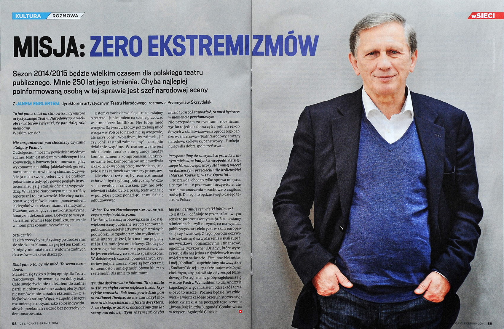 wSIECI nr 31/2014 r., s. 58-59 - Jan Englert