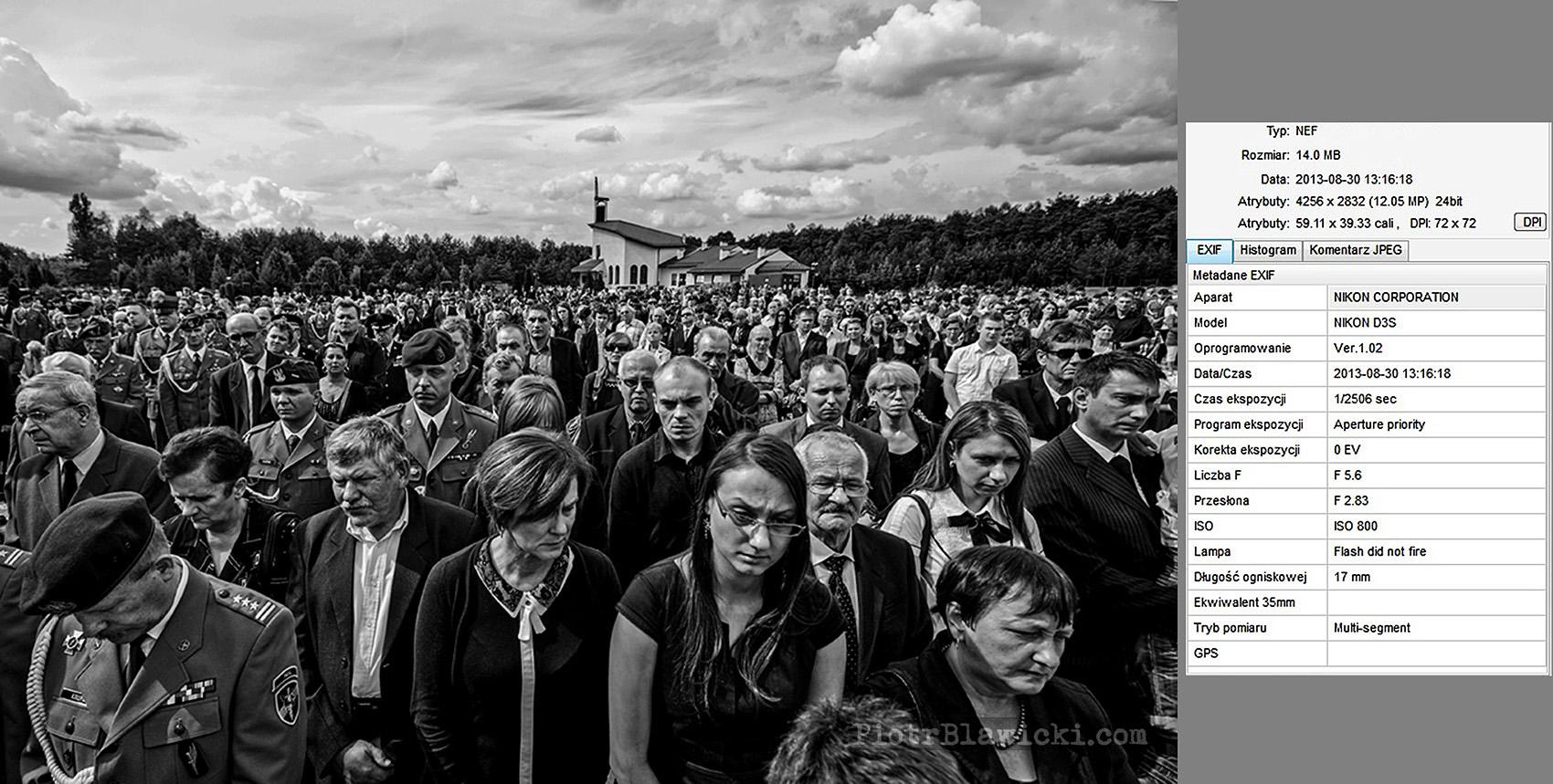 na pogrzeb przyszła prawie cała miejscowość