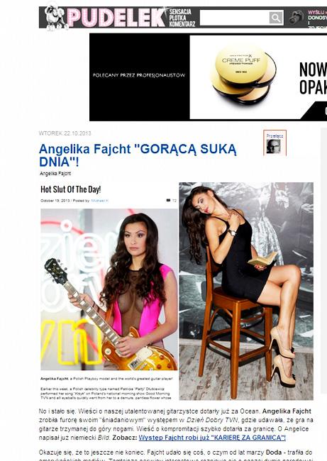 portal PUDELEK.pl 19.10.2013 r. - Angelika Fajcht