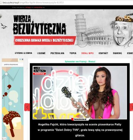 portal BEZUZYTECZNA.pl 16.10.2013 - Angelika Fajcht